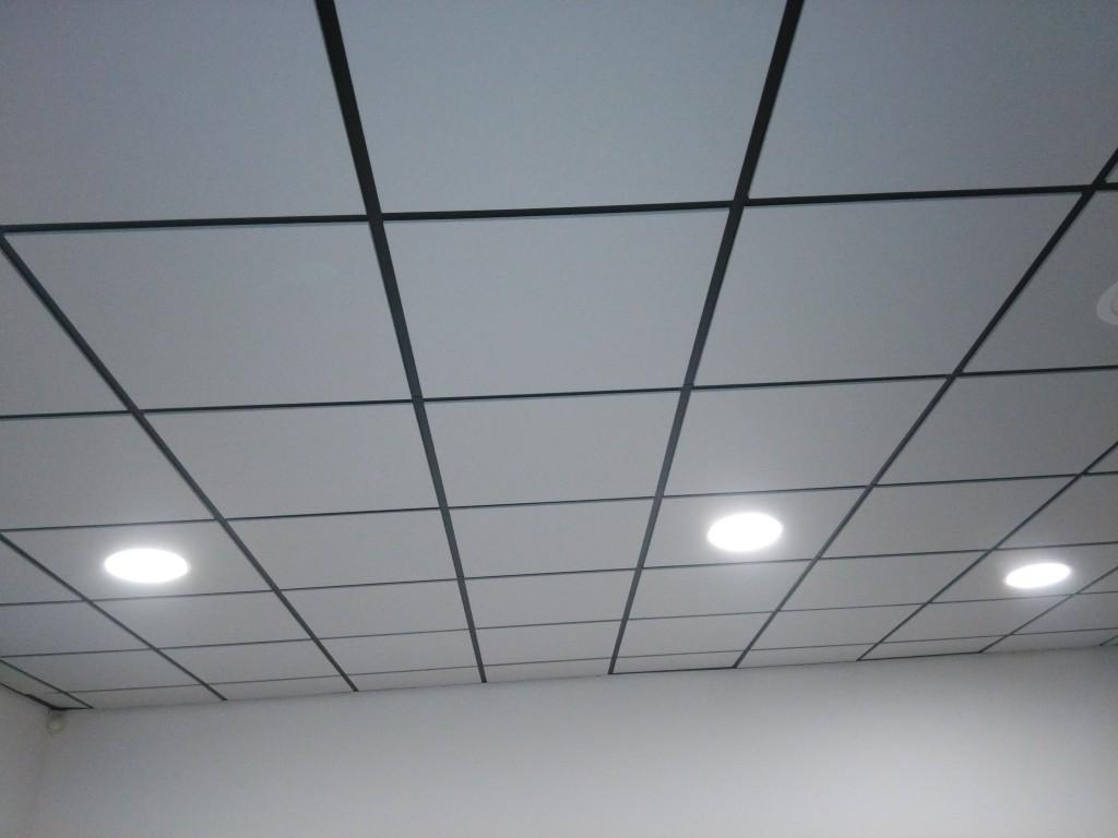 le plafond suspendu est terminé