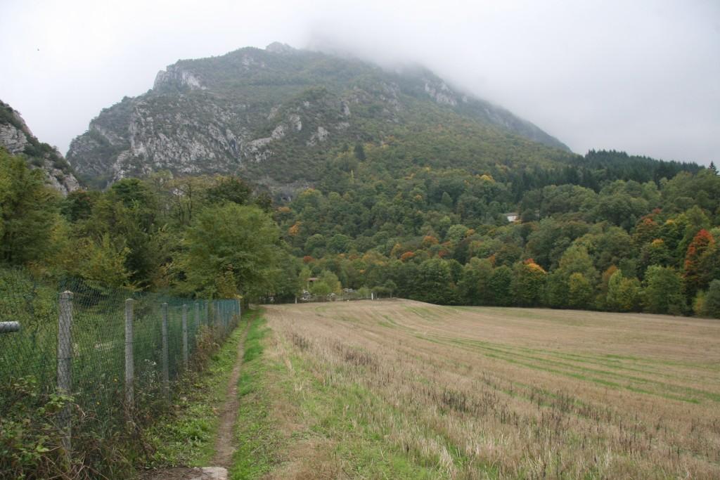 Vue sur le Vercors en direction de Saint Eulalie en Royans
