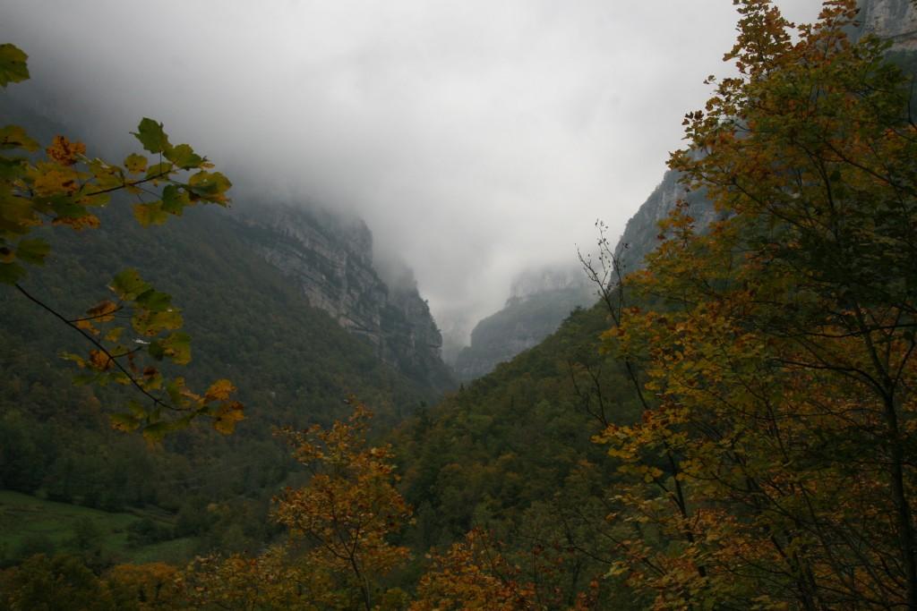 Couverture brumeuse sur le massif du Vercors