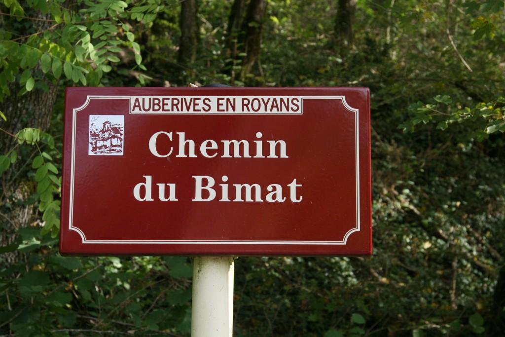 Panneau Chemin du Bimat