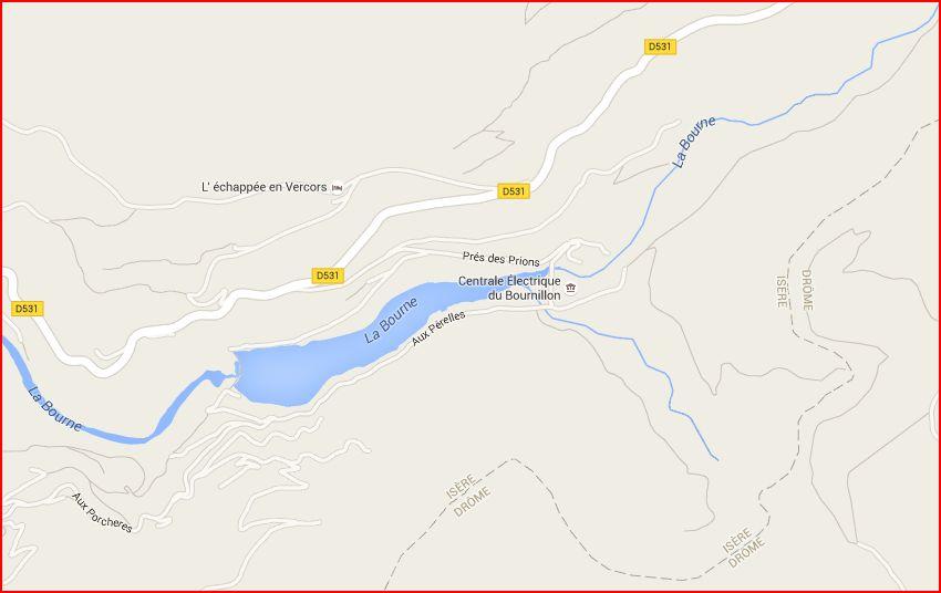 Acces grotte Bournillon