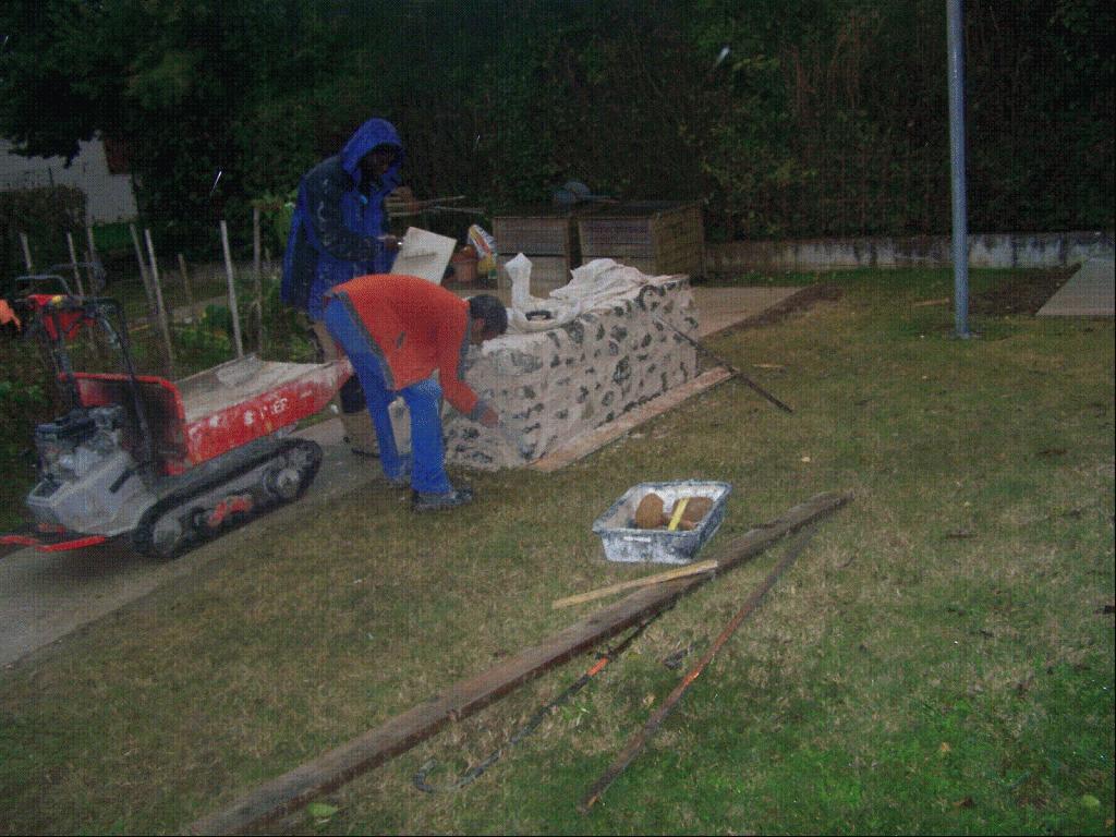 Bout de mur déco jardin