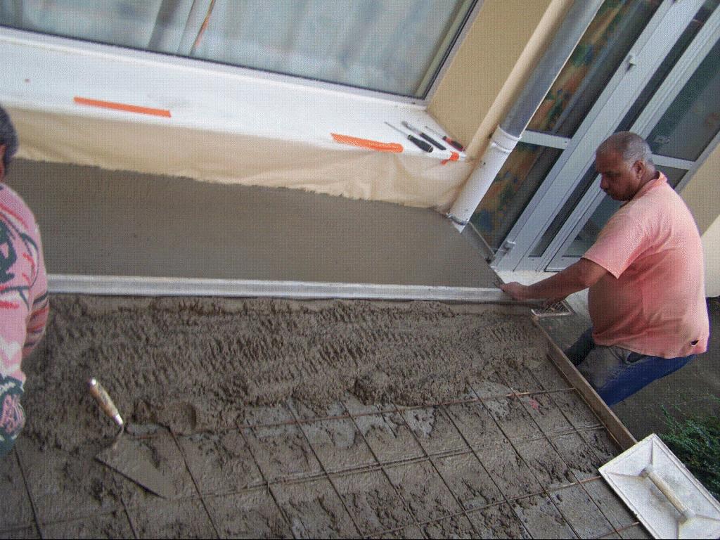 Regle a beton manuelle
